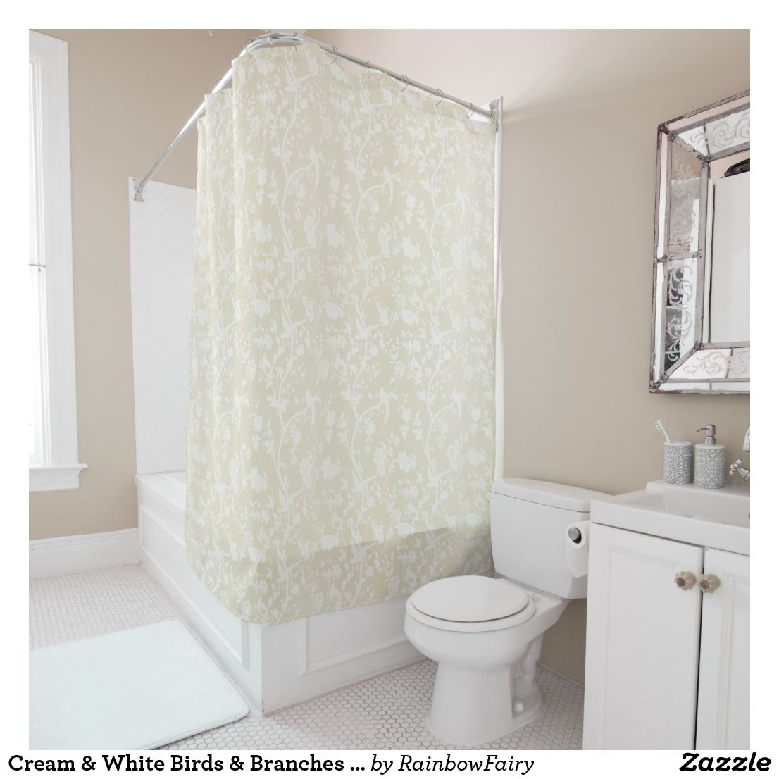 Gatsby Gold Shower Curtain Contemporary Shower Curtains Gold