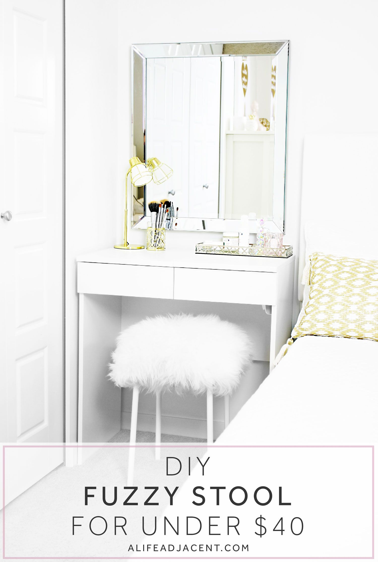 IKEA Hack: DIY Fuzzy Stool (Without the Outrageously High Price