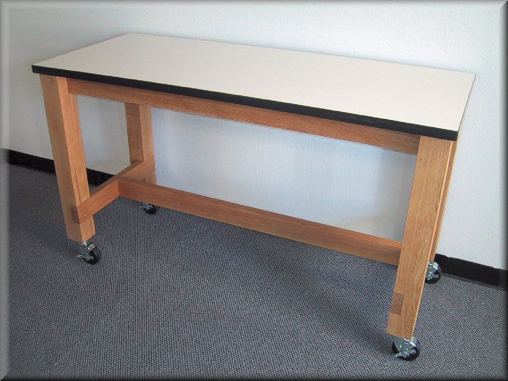 Idea For Work Bench, With Wooden Top Or Stainless Steel Wrapped Top.