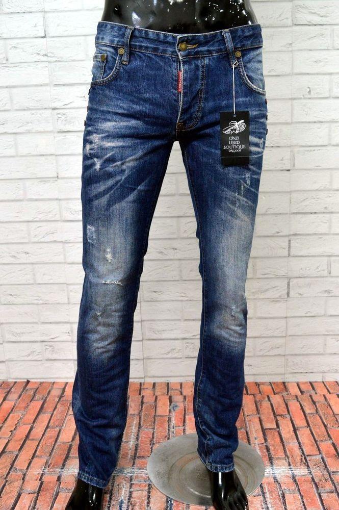 Jeans DSQUARED 2 Uomo Taglia Size 48 Pantalone Man Slim Fit