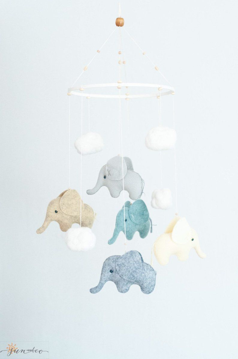 Olifant Mobiel Neutraal Baby Mobiel Olifant Baby Douche