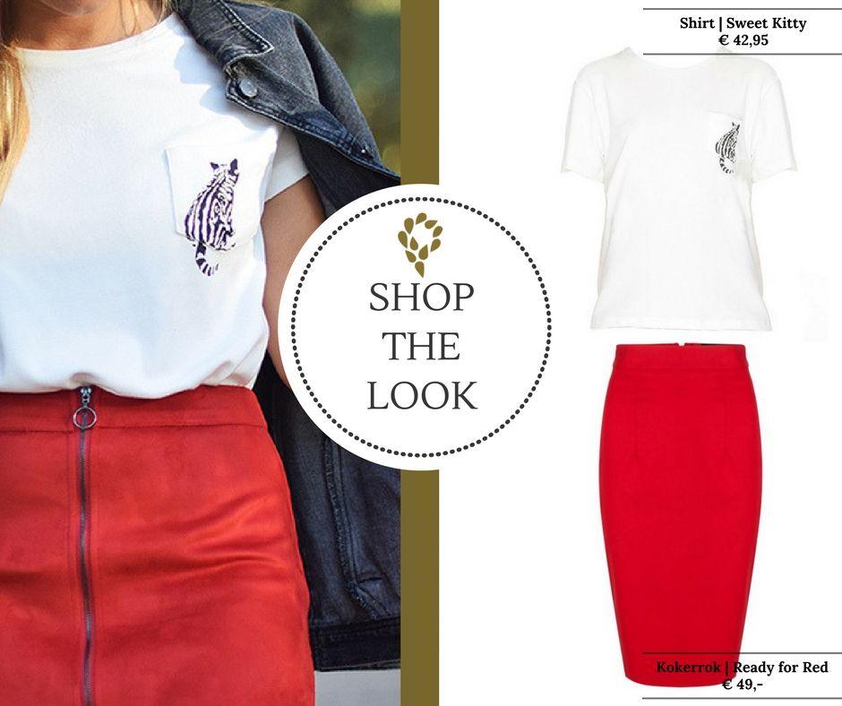 Onwijs Shirt   Sweet Kitty (met afbeeldingen)   Rode rokken, Outfits ID-83