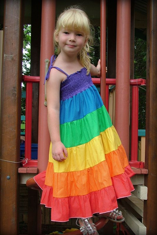 a rainbow dress for my hippie child. I have to have at least one ...