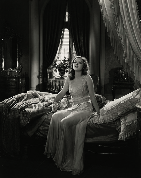 "Myrna Loy in ""Love Me Tonight,"" 1932 this scene was cut from the film because her nightgown was considered too revealing"