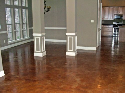 acid stained concrete floors decorative concrete overlay. Black Bedroom Furniture Sets. Home Design Ideas