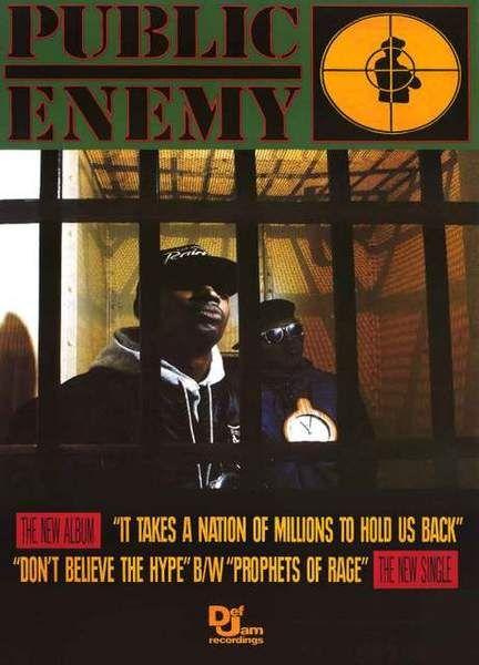 "Public Enemy IT TAKES A NATION 24/"" x 36/"" East Coast Hip Hop LARGE Music POSTER"