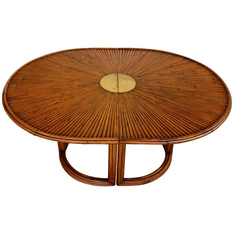 Gabriella Crespi Rising Sun Bamboo Dining Table From A Unique