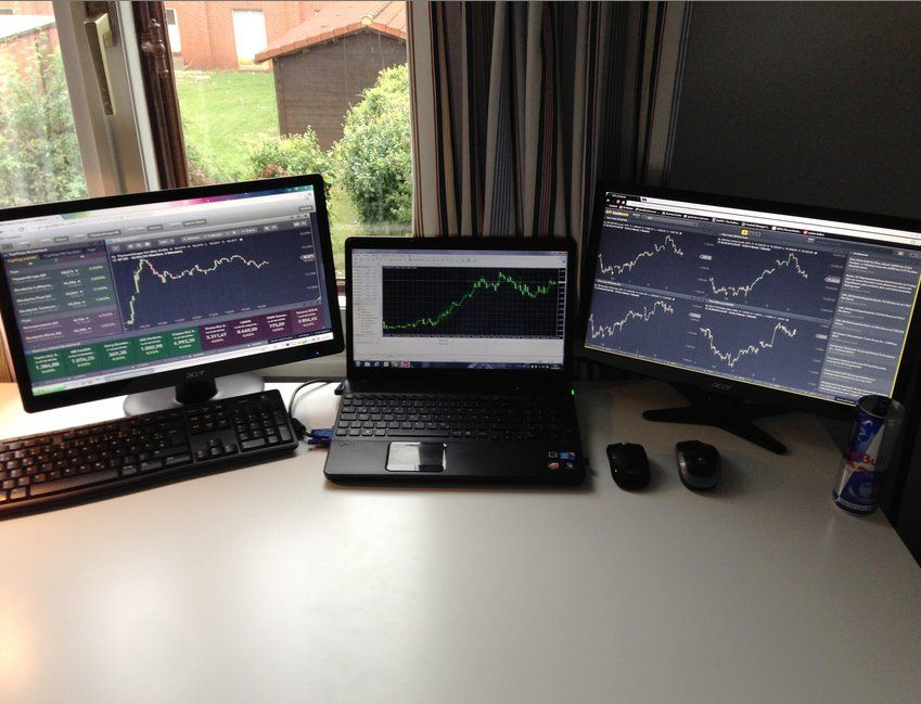 This Set Up Belongs To A Young Trader From Bremen Germany He