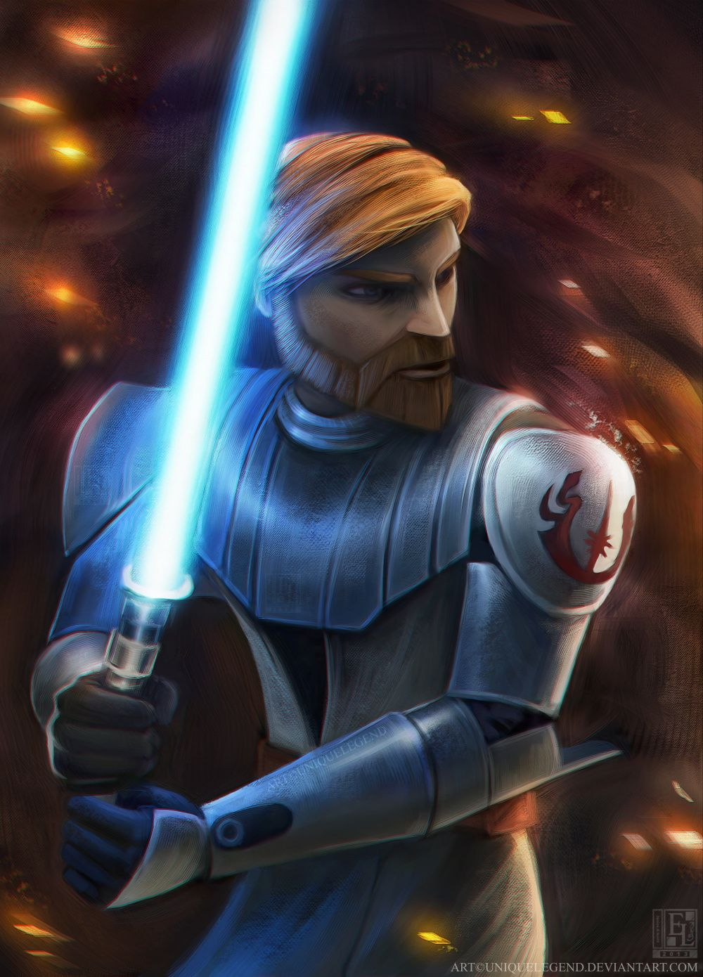 Obi Wan Kenobi By Uniquelegend On Deviantart Star Wars Painting Star Wars Poster Star Wars Art