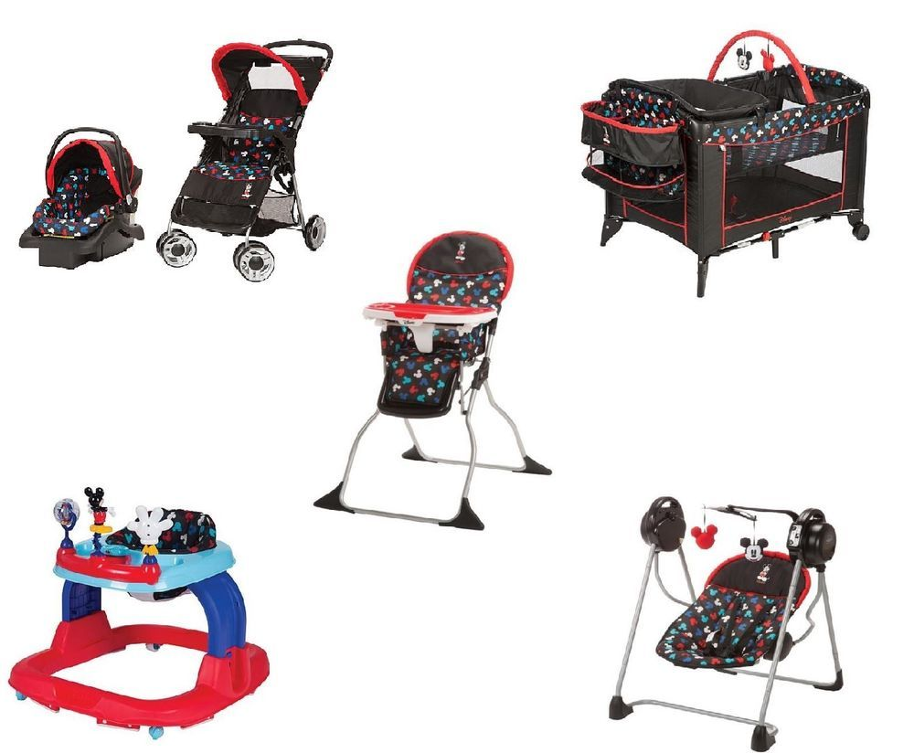 77da9a3fd0 Mickey Mouse Newborn Set Stroller Play Yard Baby Boy Infant Disney Gift Car  Seat  Disney