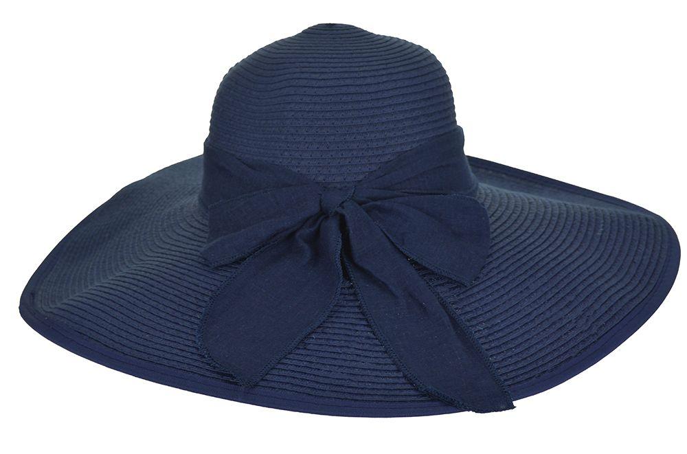Chapéu aba larga azul marinho cfc3782d5ca