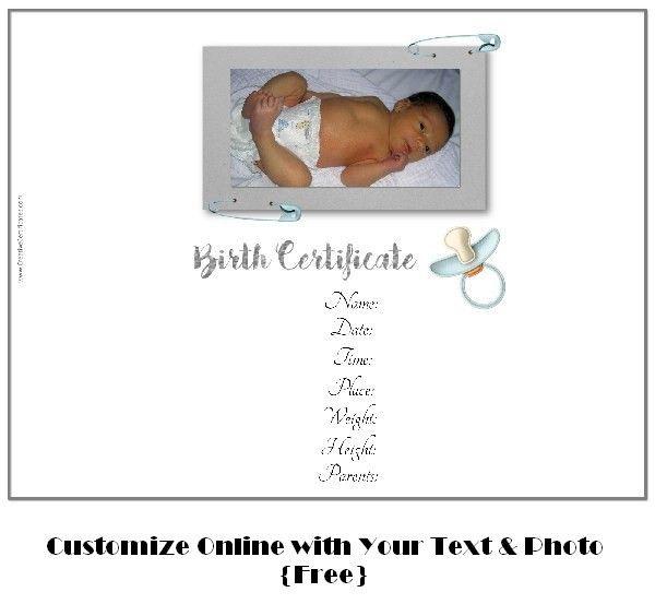 free birth certificate template Art Pinterest Certificate
