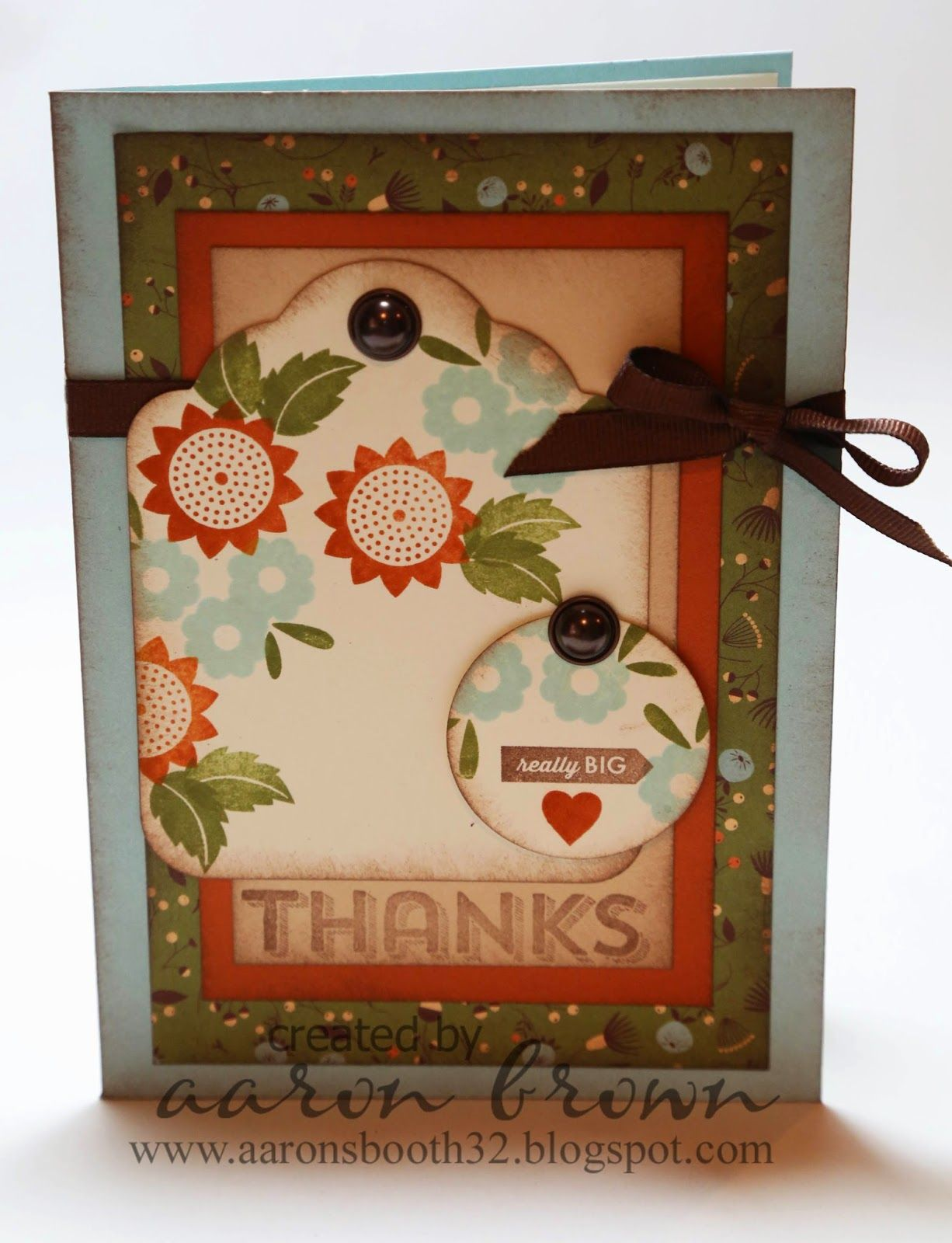 Booth #32: Pin Inspired Thanks Card #Pathfinding #CardmakingWOTG