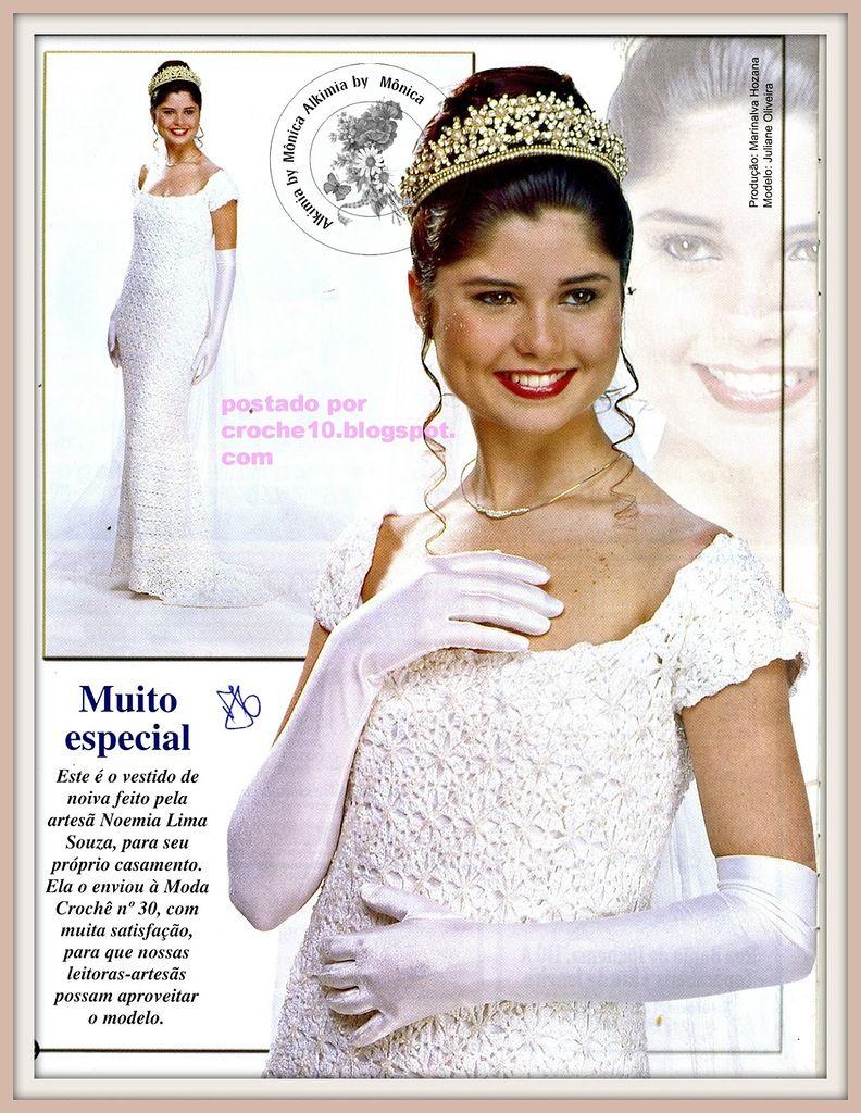 clic para ver patrones vestido de novia .A   Crochet / Ganchillo ...
