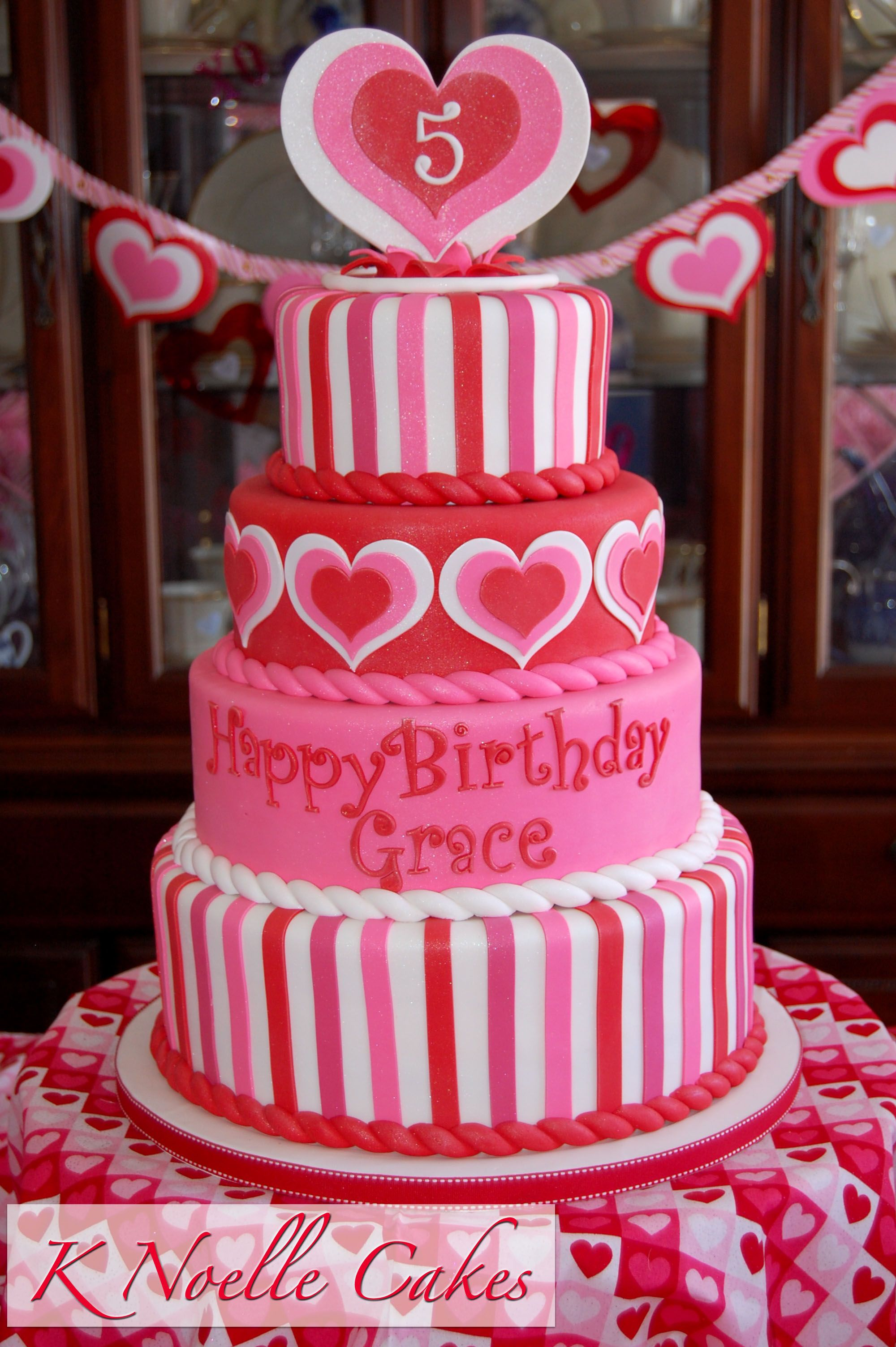 Magnificent Valentines Birthday Cake By K Noelle Cakes With Images Funny Birthday Cards Online Elaedamsfinfo
