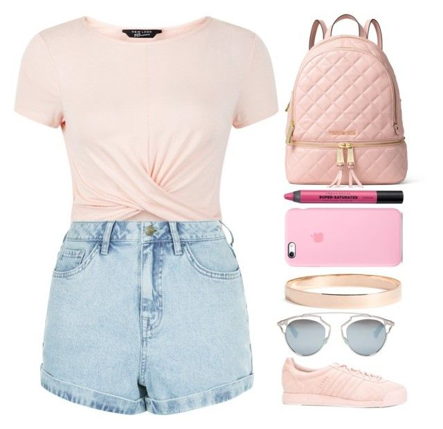 """"""""""" by barijeziberi ❤ liked on Polyvore featuring New Look, MICHAEL Michael Kors, Urban Decay, adidas, Lana Jewelry and Christian Dior"""