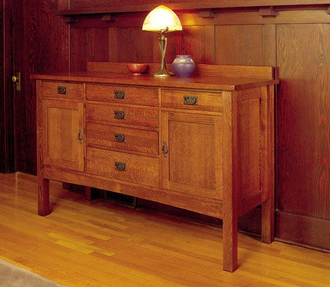 br> <li>This oversized sideboard buffet provides ample storage ...