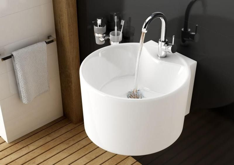 Amazing Stunning Cylinder Counter Top Or Wall Mounted Wash Basin With A Tap Hole Is  A Perfect Idea For Any Compact Bathroom.