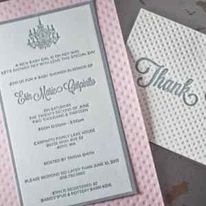 Baby Announcement cards - Letterpress