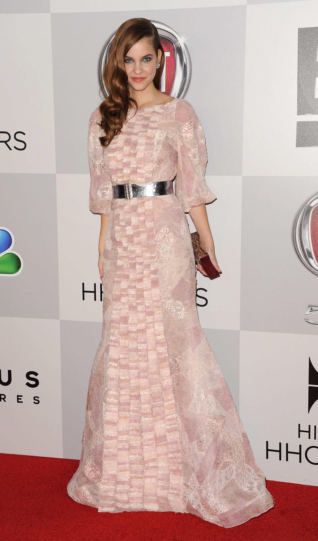 barbara palvin dress | Barbara Palvin pink dress 2013 Golden Globes ...