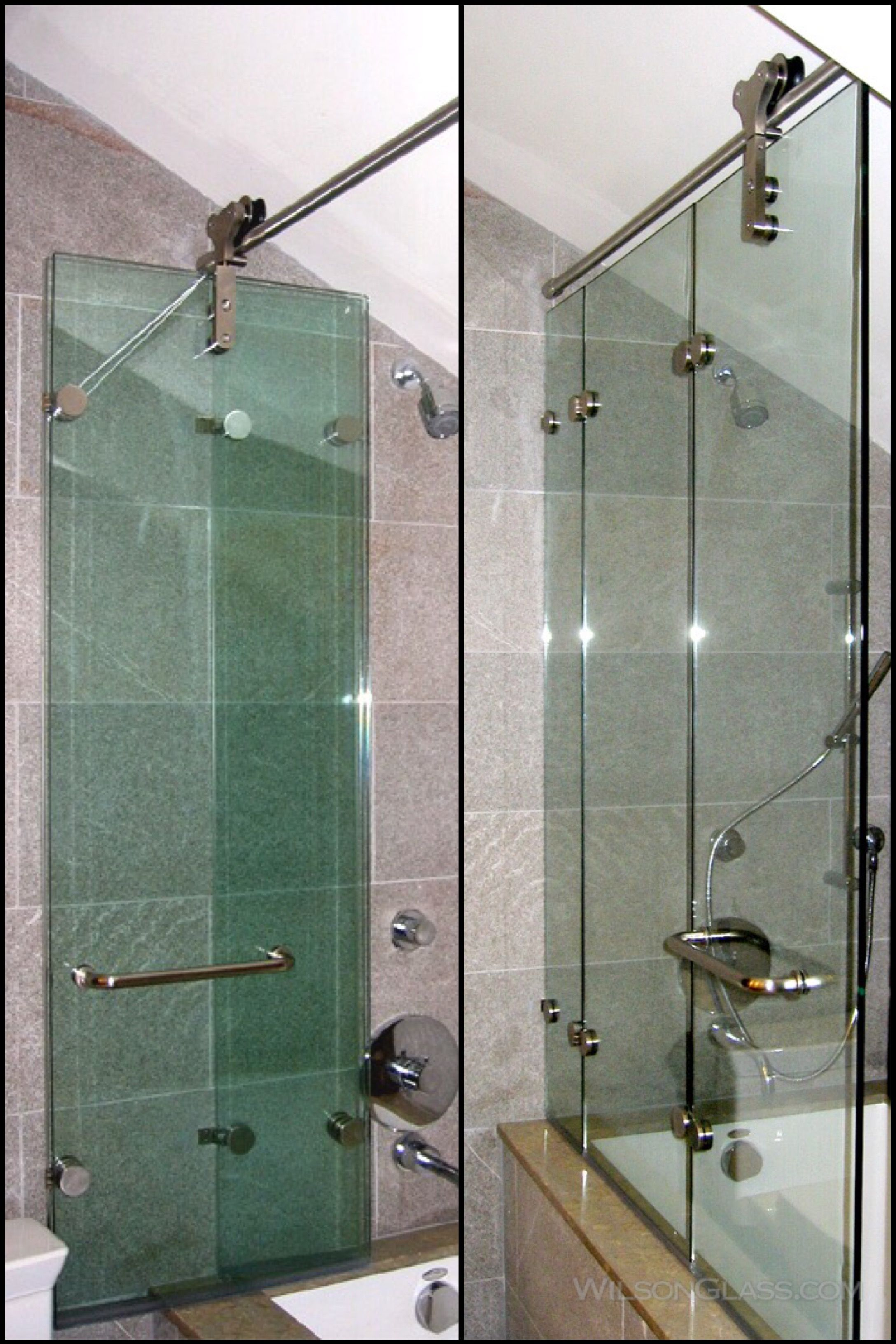 Wilson Glass Folding Tub Enclosure Glass Shower Doors Frameless Glass Bathroom Door Shower Doors