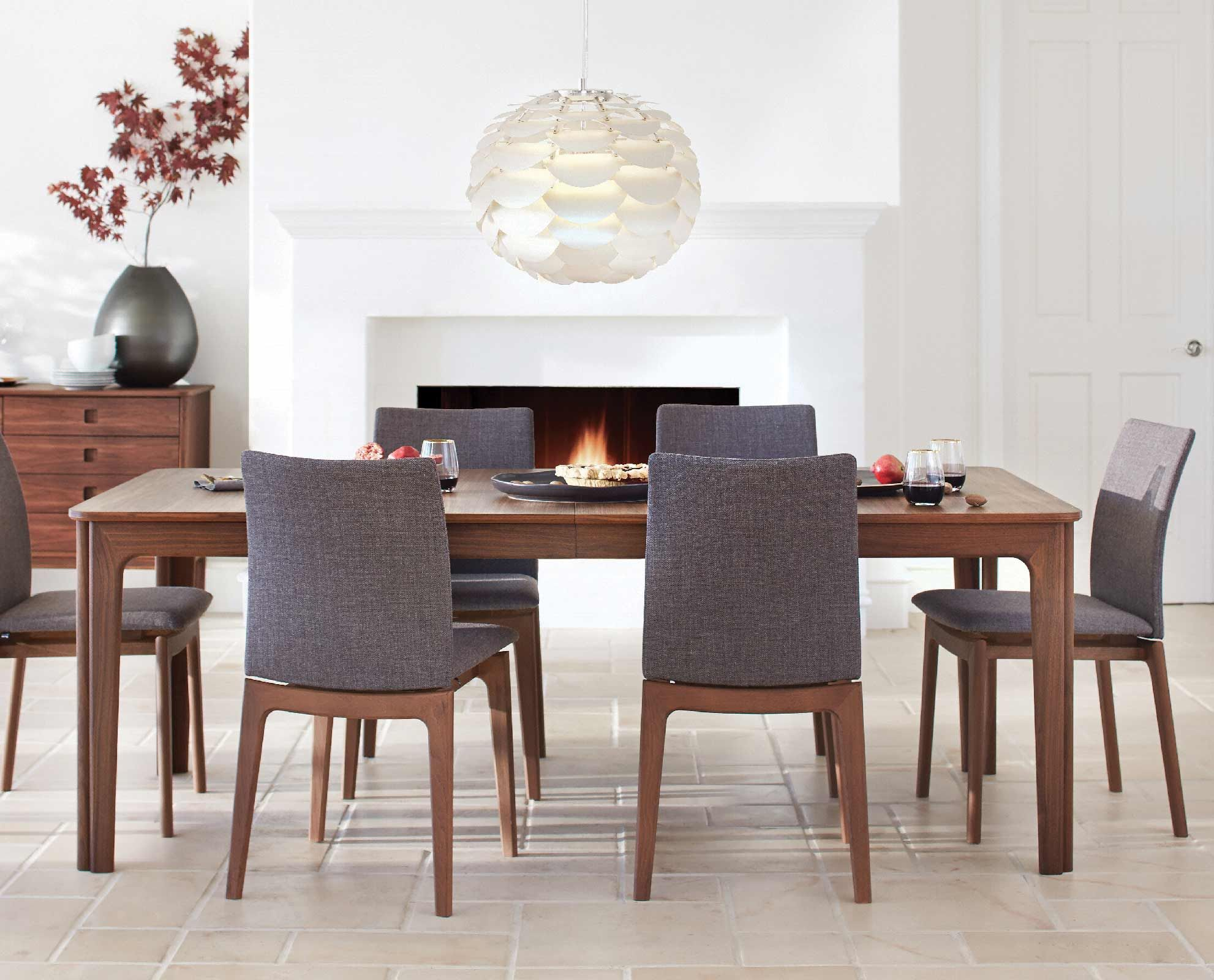 Dania sundby extension dining table goes from