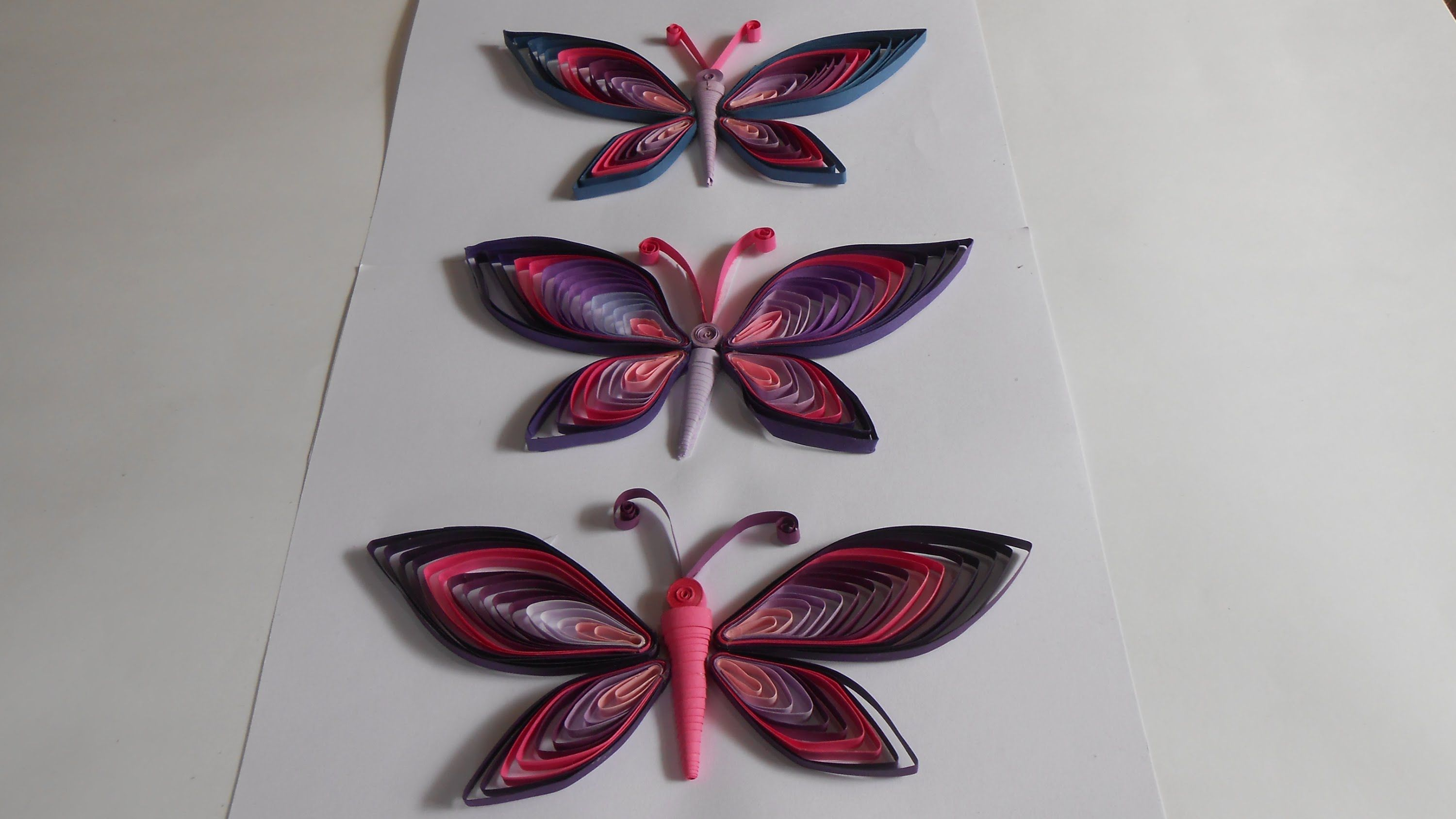 DIY: How to make a Beautiful Paper Quilled Butterfly using Combing ... for Quilling Butterfly Tutorial  70ref