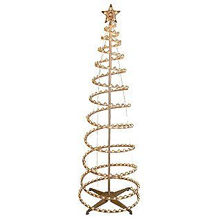 trim a home 6ft lighted spiral christmas tree clear