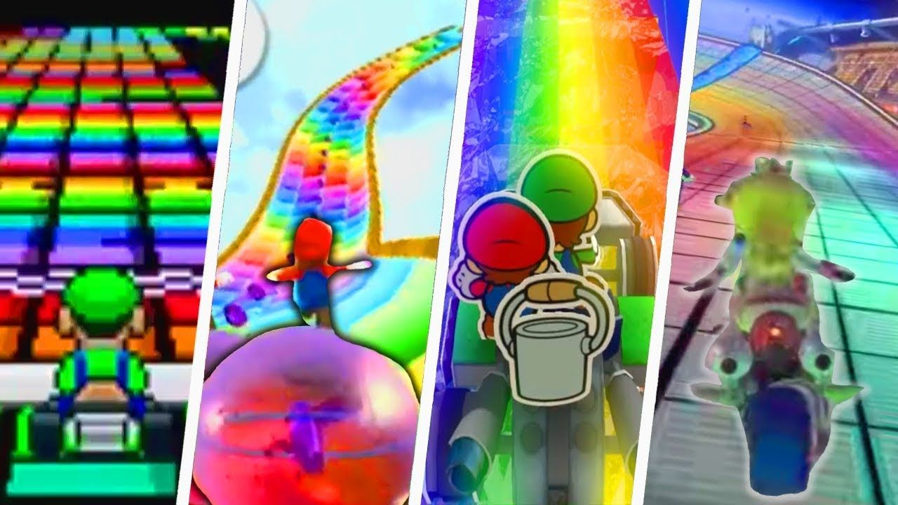 Evolution Of Rainbow Road 1992 2018 Met Afbeeldingen