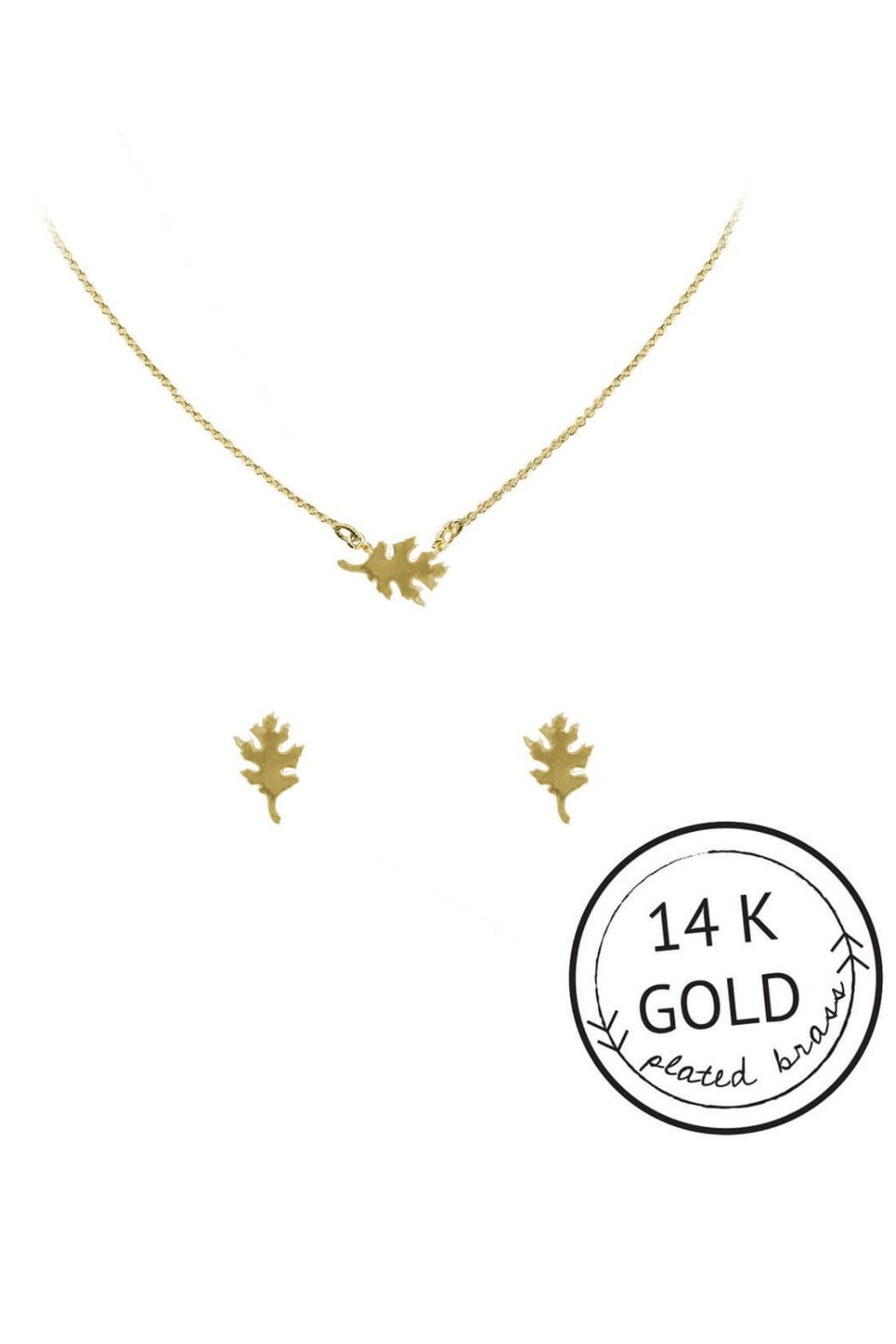 Leaf necklace u earring set products pinterest products