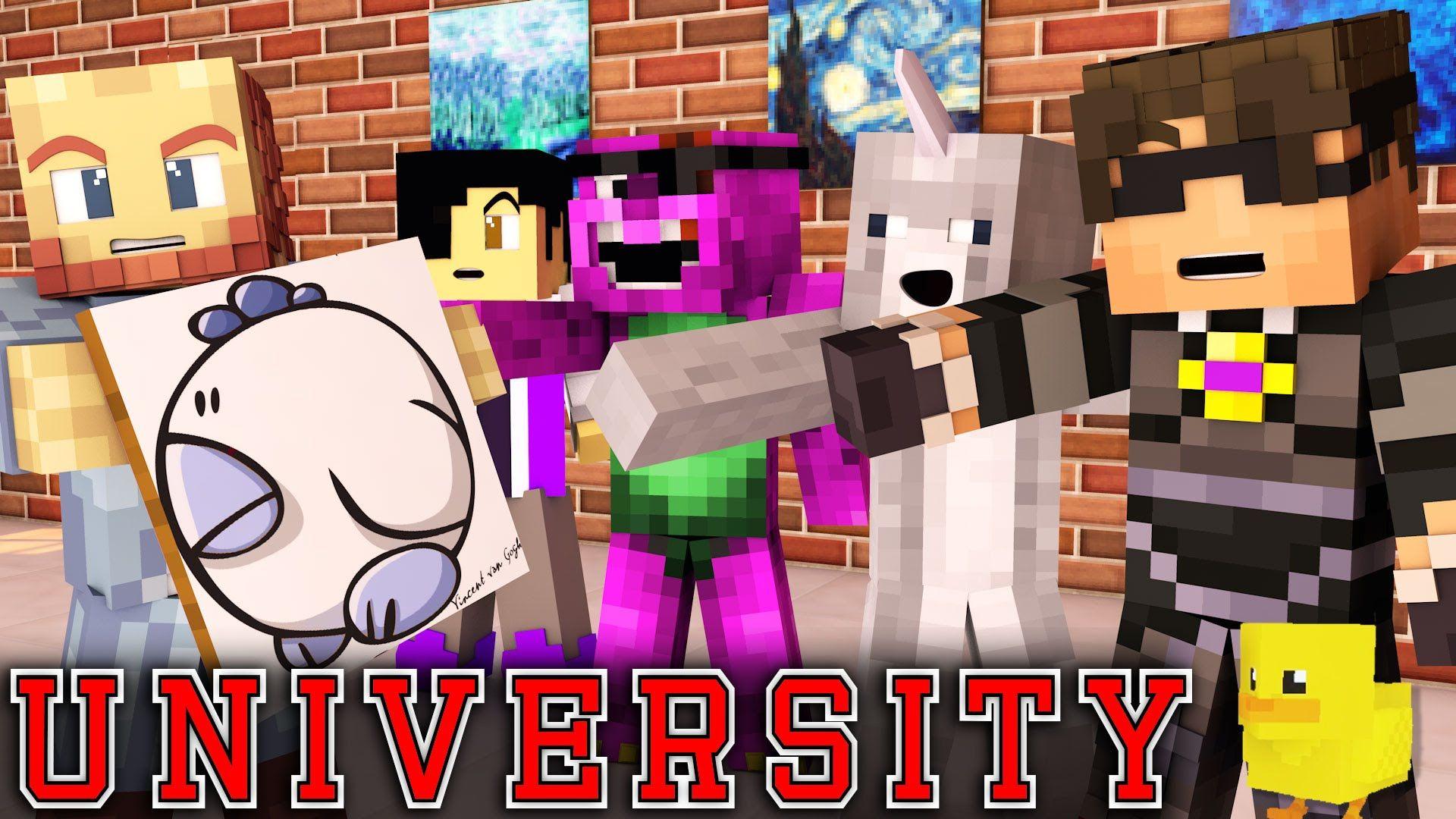 "Minecraft UNIVERSITY! - ""ART MAJOR MADNESS"" #1 (Minecraft Roleplay)"