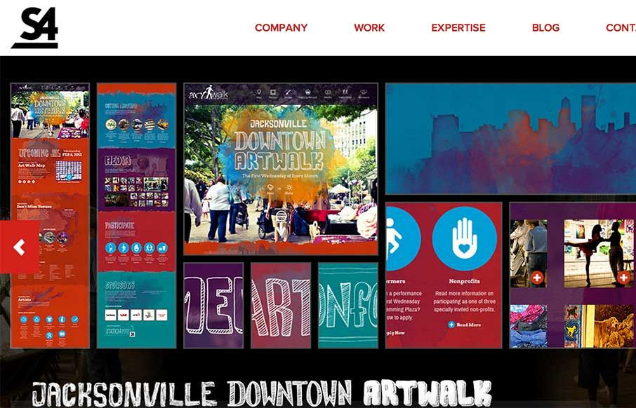 Good design company site from Station Four out of Jacksonville. These folks have come and hung out with us at ConvergeFL - good people. They work on a bunch of different platforms, and their work a...