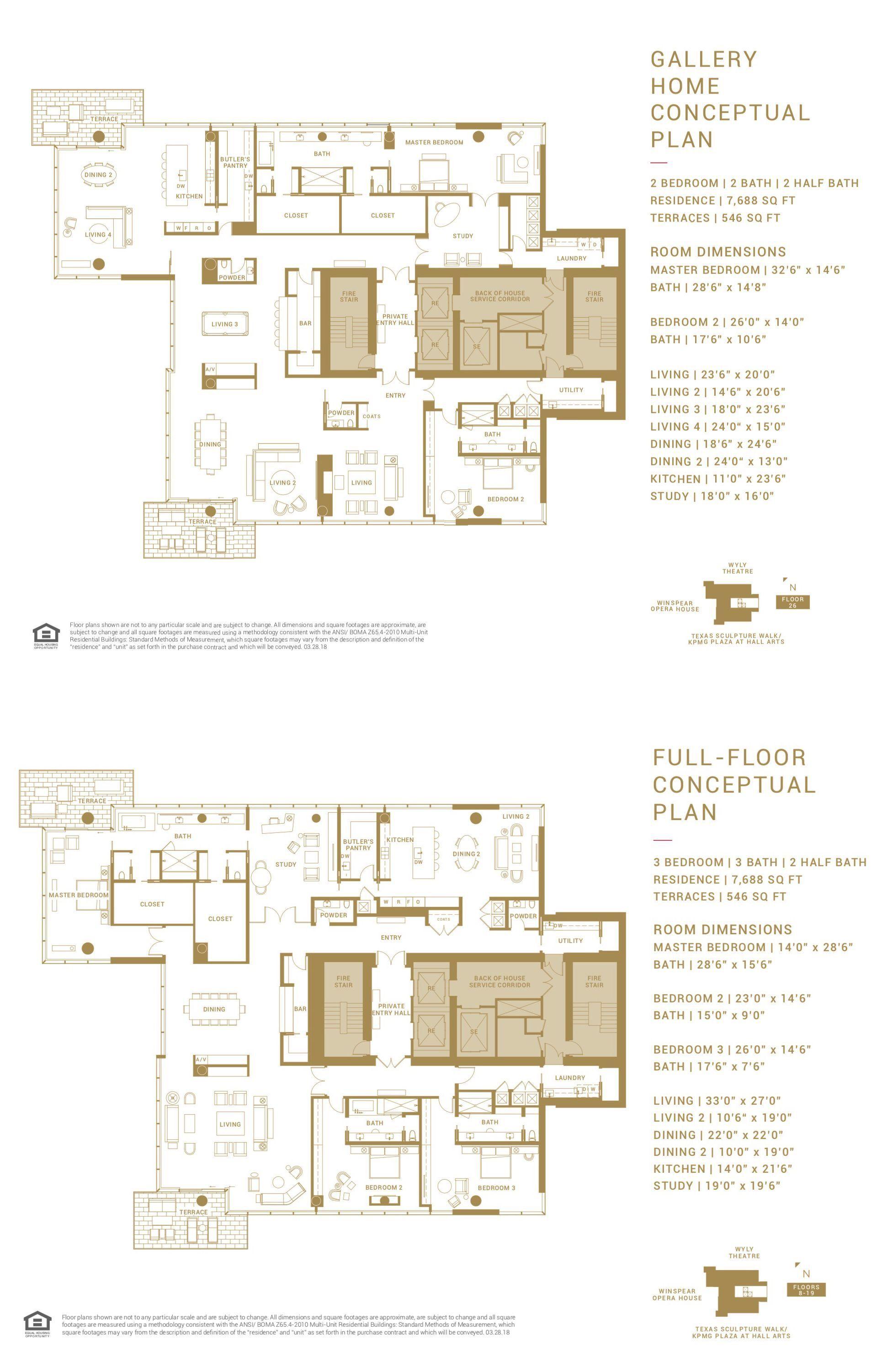HALL Arts Residences, Dallas Full Floor Plan | Penthouse apartment floor  plan, Floor plans, Apartment floor plan