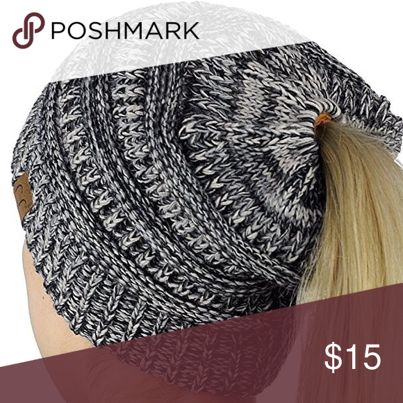 63f521492 Black/gray knitted hat beanie Material cotton blend One size fits ...