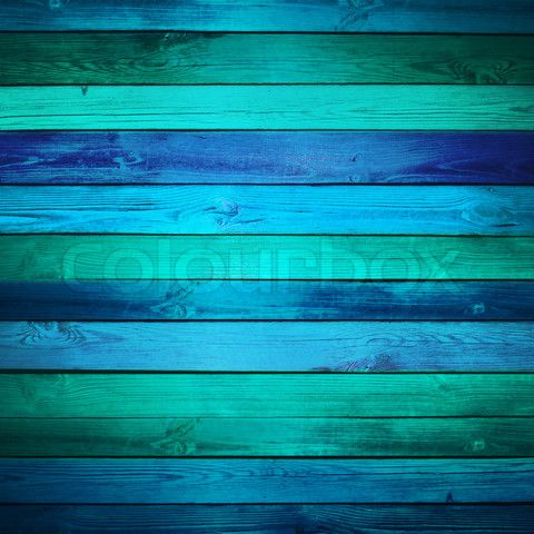 Image Of Old Blue Wooden Background Horizontally Placed