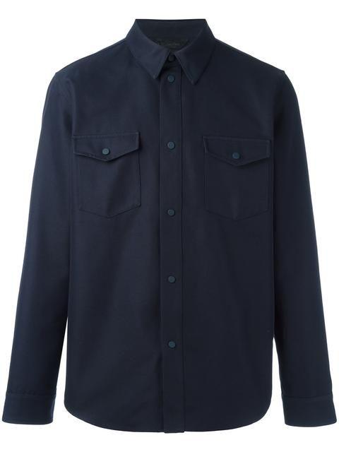 CALVIN KLEIN COLLECTION chest pocket shirt jacket. #calvinkleincollection #cloth #jacket