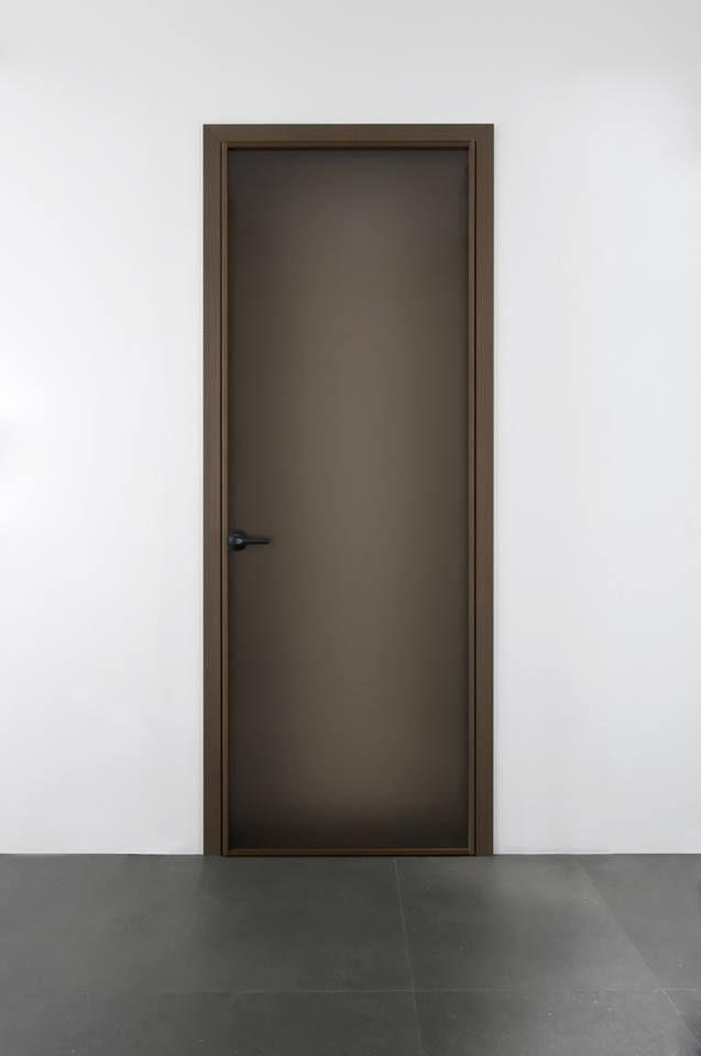 Frosted Bronze Glass Hinged Door With 45 Jamb Beat By Albed Glass Hinges Wooden Door Design Door Design