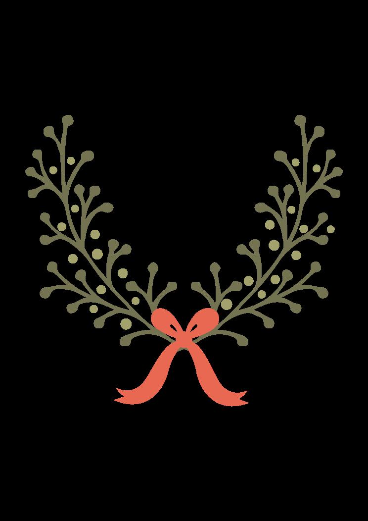 Half Wreath Svg Free : wreath, Wreath, Ribbon, Files,