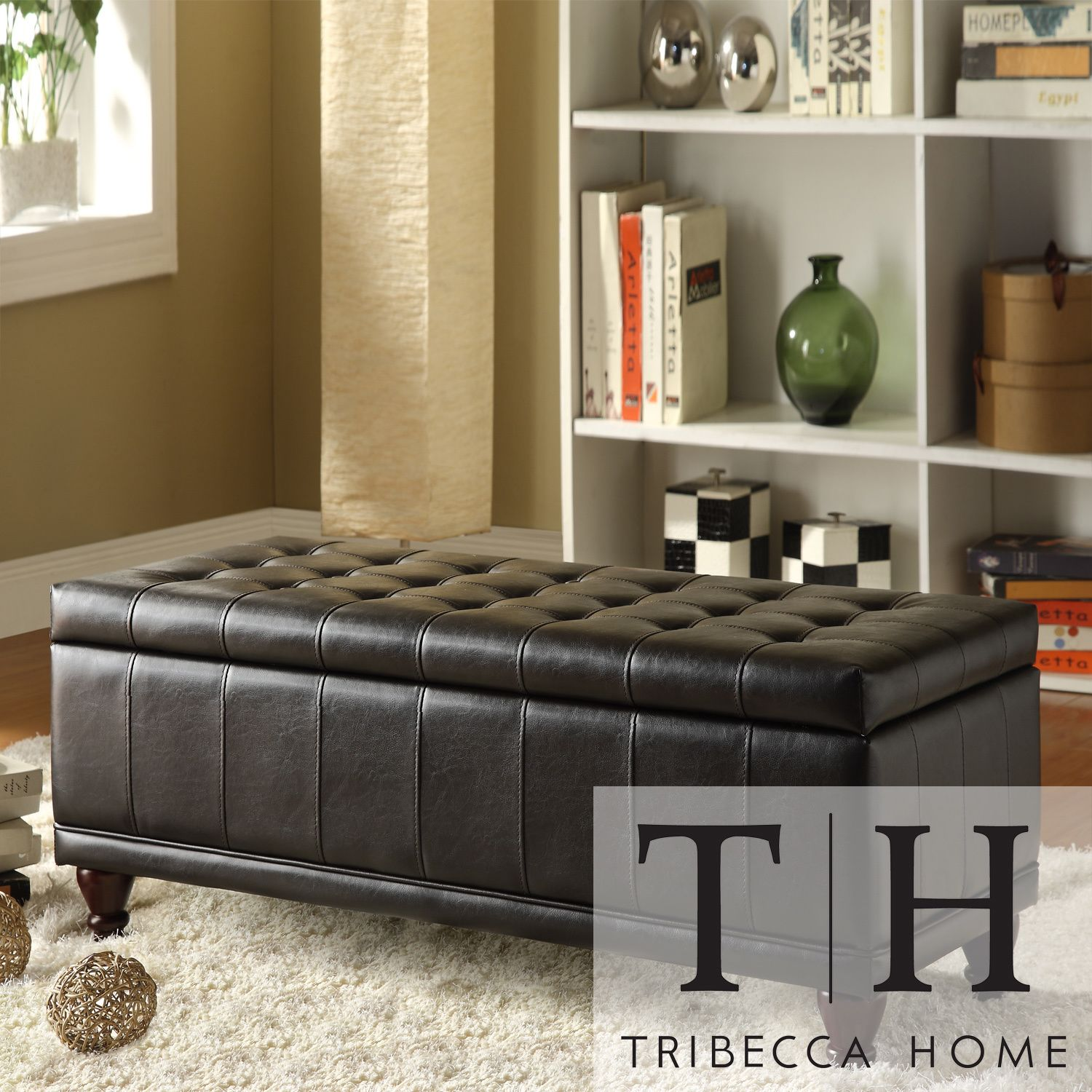 This black brown wood storage bench can be used to store items and to  provide extra
