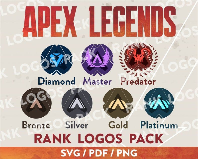 Apex Legends Vector Logo Rank Logos Pack Digital Svg Etsy In 2021 Vector Logo Digital Svg Svg