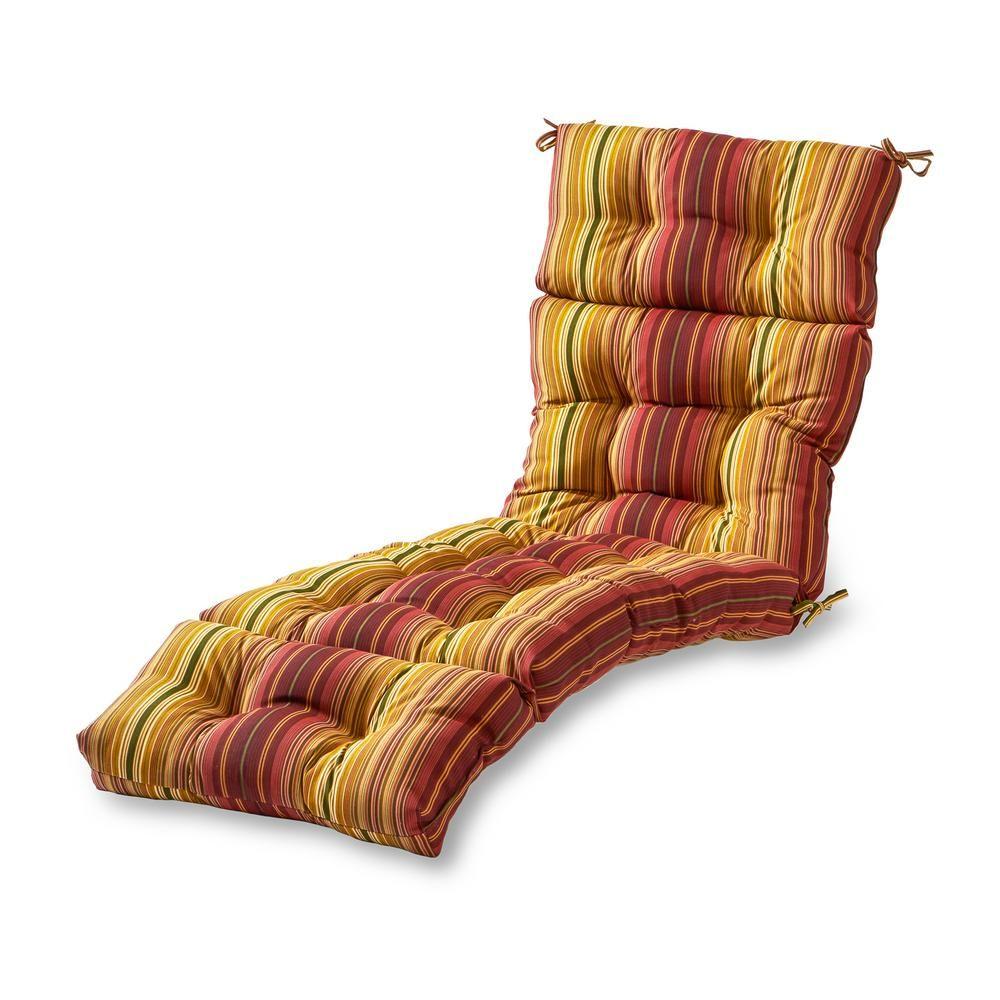 Greendale Home Fashions Kinnabari Stripe Outdoor Chaise Lounge