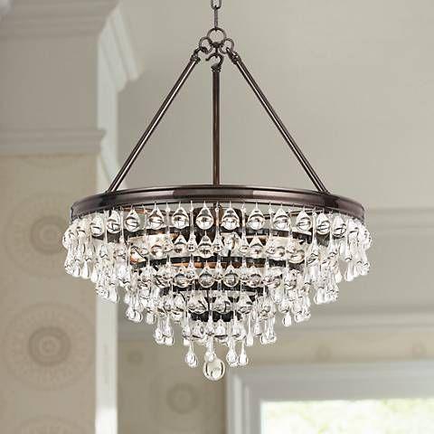 Calypso 20 wide crystal vibrant bronze chandelier chandeliers calypso 20 wide crystal vibrant bronze chandelier aloadofball Images