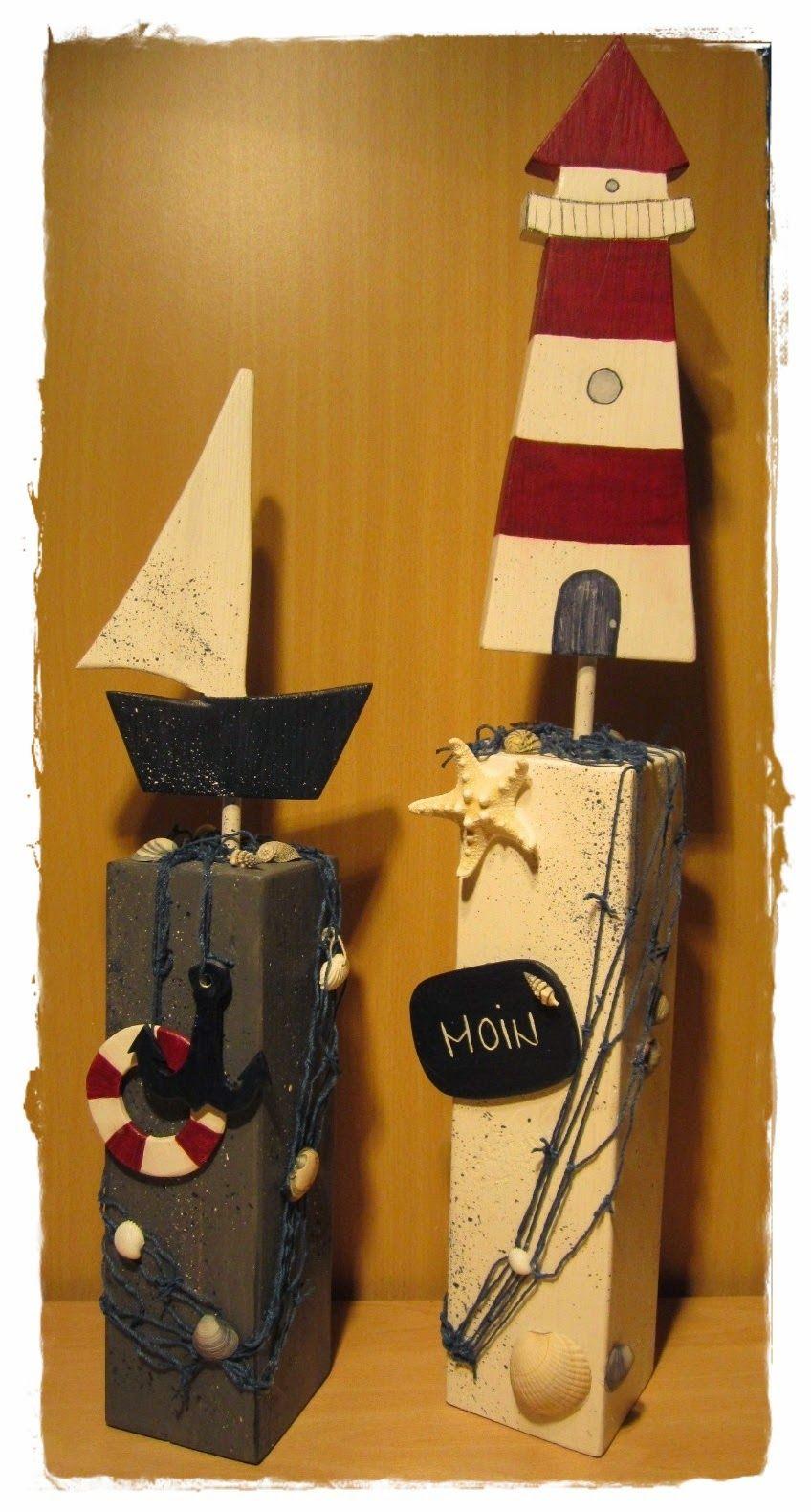 Stehle Maritim brittas kreativstübchen holzpfosten holz maritim
