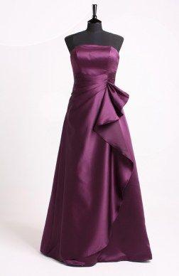 Floor-length Strapless A-line Purples Sleeveless #Prom #Dress Style Code:06641 $89