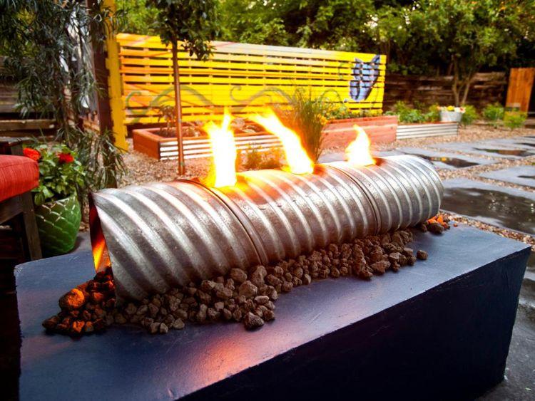 Offene Feuerstelle Rohr Metall Feuerschale Selber Bauen