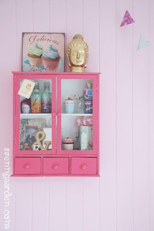 cute pink display cabinet kids spaces Pinterest Display
