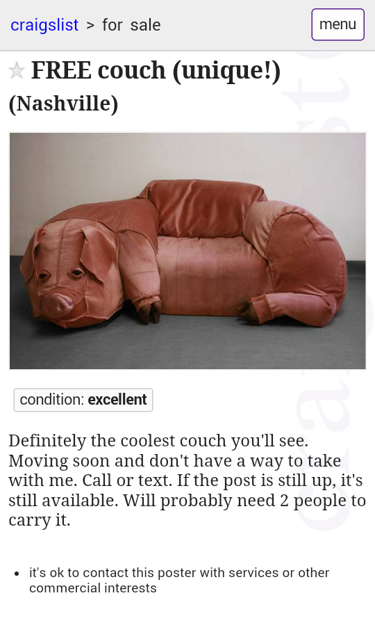 Grelliamblaum My Dad Found This Couch On Craigslist But Our Mom