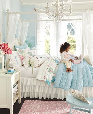 LOVE this rooms colors. Not your every day pink girls room. Very ...