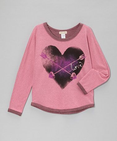Take a look at this Pink & Black Love Heart & Arrow Top by TA-EAM on #zulily today!