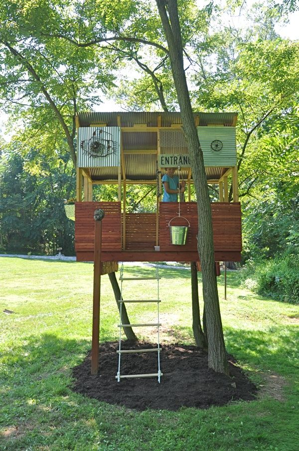 Diy Simple Tree House For Kids Diytreehouse Treehouse Treehouseplans